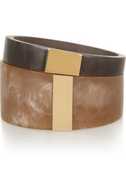 Isabel Marant Set of two resin and gold-plated cuffs