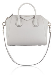 Small Antigona bag in gray textured-leather