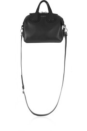 Micro Nightingale shoulder bag in black textured-leather