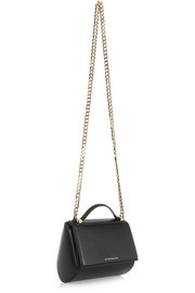 Pandora Box shoulder bag in black textured-leather