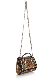 Pandora Box shoulder bag in sequined satin