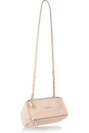 Micro Pandora shoulder bag in blush textured-leather