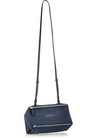 Micro Pandora shoulder bag in textured-leather