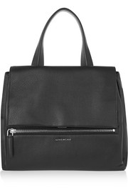 Medium Pandora Pure bag in black textured-leather