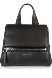 Mini Pandora Pure bag in black textured-leather