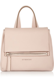 Mini Pandora Pure bag in blush textured-leather