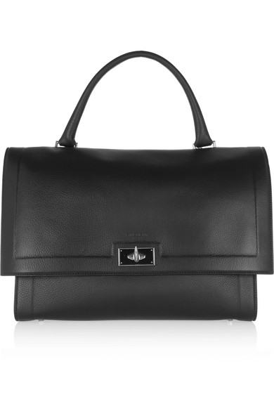 Givenchy Shark Medium-sized Bag Of Black Textured Leather