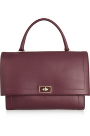 Medium Shark bag in burgundy textured-leather