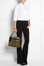 Valentino My Rockstud leopard-print calf hair and suede tote