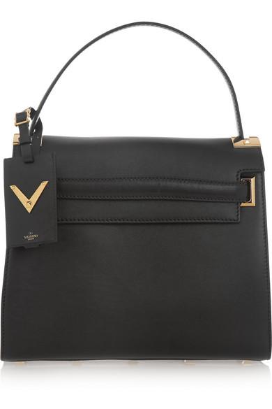 Valentino - My Rockstud Leather Tote - Black