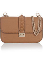 Lock medium textured-leather shoulder bag