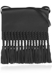 Valentino Fringed textured-leather shoulder bag