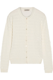 Ruched silk cardigan