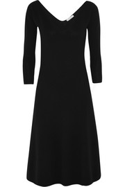Wool and cashmere-blend midi dress