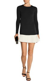 Valentino Two-tone knitted mini dress