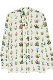 Valentino Printed silk-georgette blouse