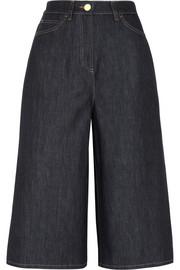 Valentino High-rise denim culottes