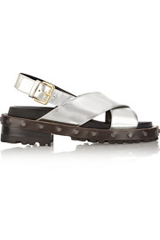Marni Mirrored-leather sandals