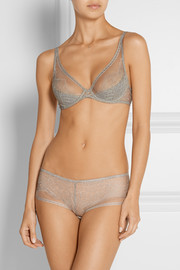 Montsouris Panthéon Chantilly lace and tulle underwired bra