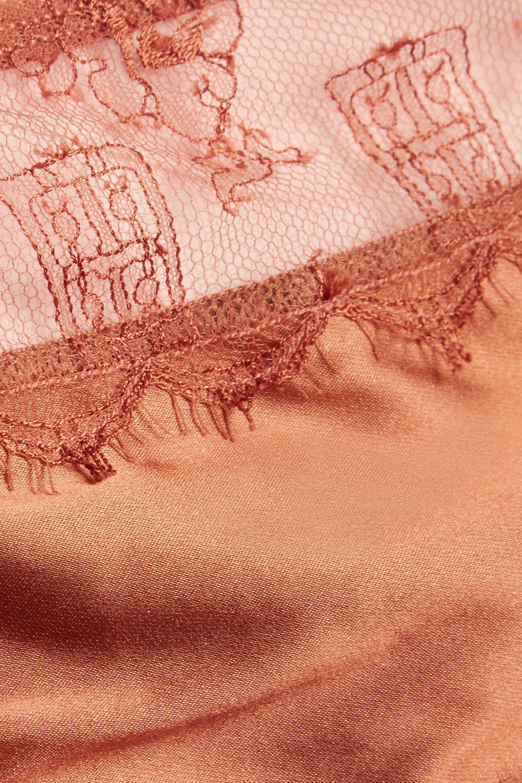 Eres La Pagode Concorde lace-trimmed stretch-satin briefs