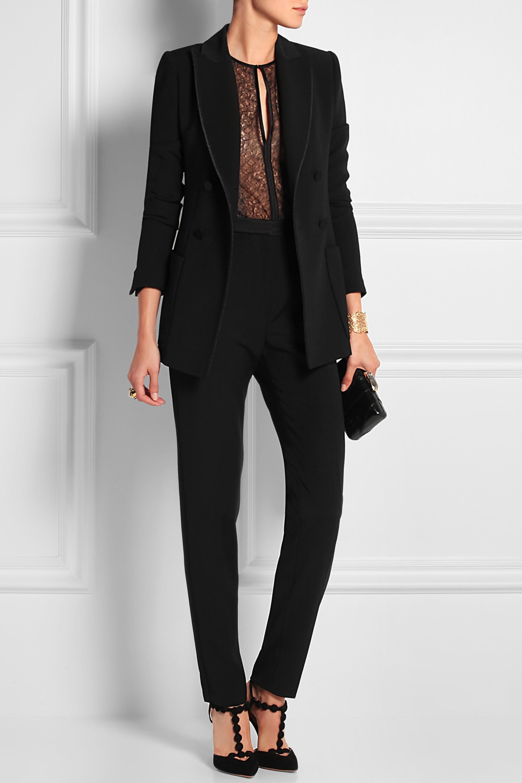 Eres Batignolles Honoré stretch-Leavers lace and stretch-jersey bodysuit