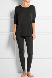 Futile Tentation ribbed cashmere leggings