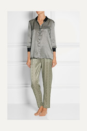 Ambroise Atrium printed silk-satin pajama top