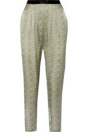 Ambroise Alma printed silk-satin pajama pants