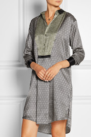 Ambroise Orfevre printed silk-satin nightshirt