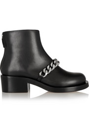 Givenchy Chain-embellished glossed-leather ankle boots