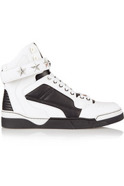Tyson sneakers in white and black leather
