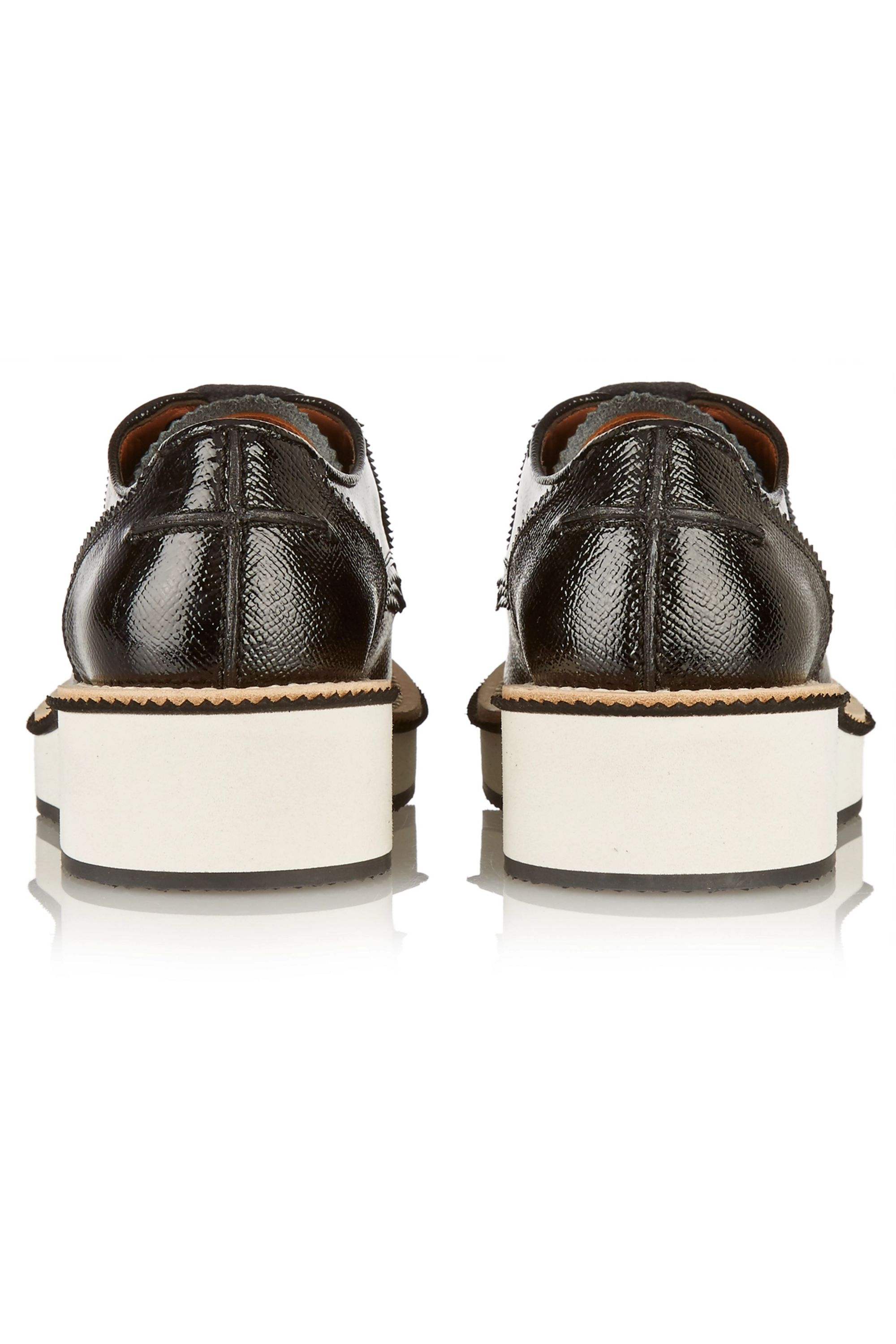 Givenchy Fringed platform brogues in black leather