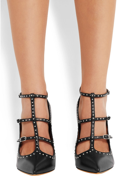 90d4ac0a5bf Givenchy. Studded black-leather pumps