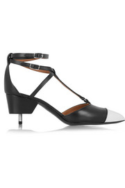 Maremma  leather point-toe pumps