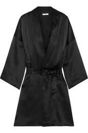La Pagode Galliera silk-satin robe