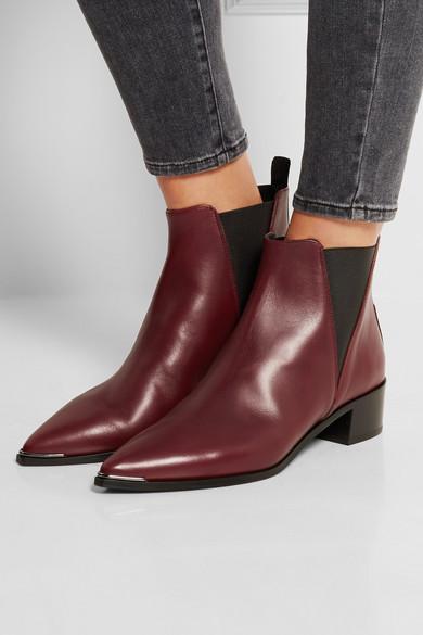 acne studios jensen leather ankle boots net a porter com. Black Bedroom Furniture Sets. Home Design Ideas