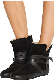 Nygel leather and shearling ankle boots