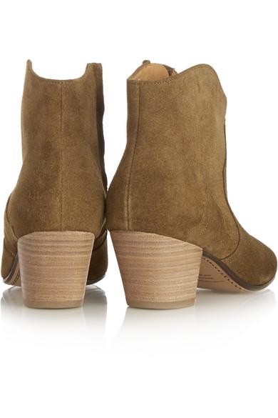 Isabel Marant | Étoile The Dicker suede ankle boots | NET-A-PORTER.COM