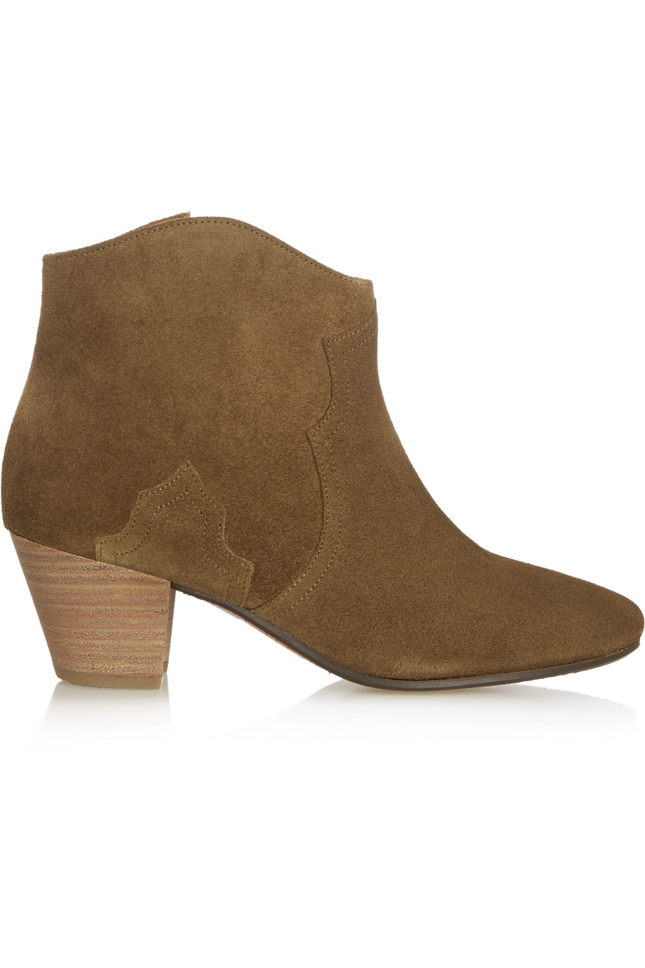 Isabel Marant Étoile The Dicker Suede Ankle Boots, Brown, Women's US Size: 4.5, Size: 36
