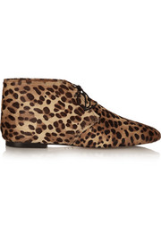 Isabel Marant Ginger leopard-print calf hair ankle boots