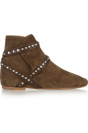Isabel Marant Étoile Ruben studded suede ankle boots