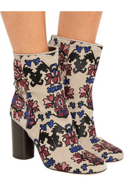 Guya embroidered suede boots