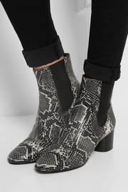 Danae snake-effect leather ankle boots