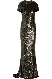 Lanvin Paillette-embellished tulle gown