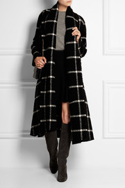 Lanvin Checked wool-blend coat