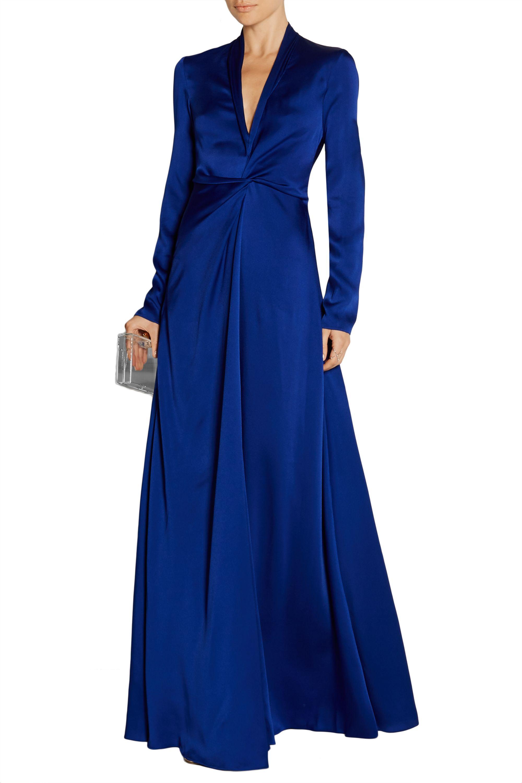 Lanvin Twist-front satin gown