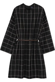 Oversized wool-blend flannel dress