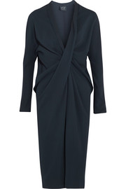 Twist-front crepe dress