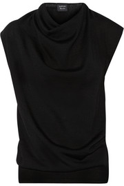 Draped wool top