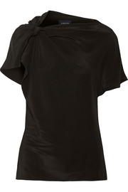 Lanvin Draped silk-chiffon top